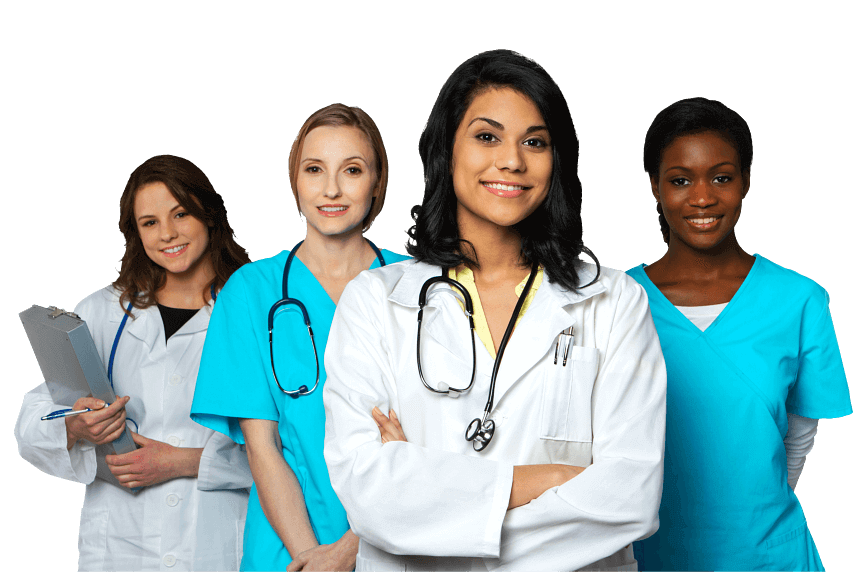 four medical workers